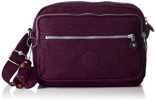 Kipling DEENA Damen Umhängetaschen 25.5x19x12.5 cm (B x H x T), Violett (34Z Plum Purple) (Plum-handtasche)