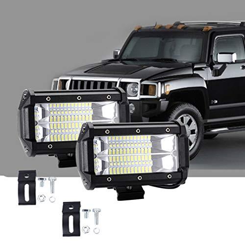 Preisvergleich Produktbild SSCJ LED-Lichtleiste,  2X 5 Zoll 72W 10800Lumens Upgrade für Zwei Reihen von Straßenbeleuchtung,  Lichtleiste,  IP67-Offroad-Scheinwerferlampe für PKW UTE 4x4 12V 24V