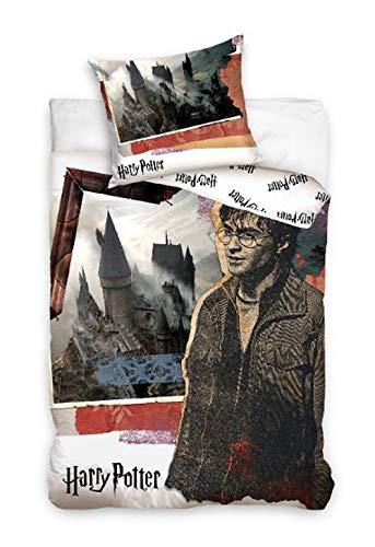 Harry Potter HP183028 Wende-Bettwäsche Set 140 x 200cm