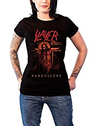 Slayer T Shirt Repentless Crucifix Official Womens Skinny Fit