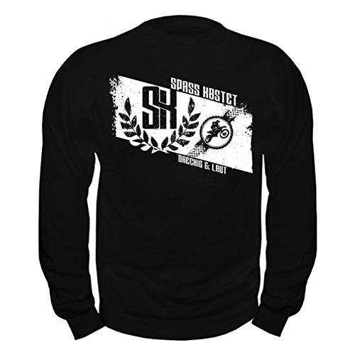 Männer und Herren Pullover CROSS - LAUT & DRECKIG (mit Rückendruck) Schwarz