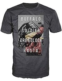 Official Bob Marley - Buffalo Soldier Dreadlock Rasta - T Shirt in Charcoal