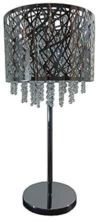 Vatea MT501 Lampe de Table Inox Cristal