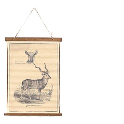Wand Dekoration Poster Zeichen Retro Vintage Tissue Tier Zeichnung Skizzieren (Vintage Retro Zeichen)