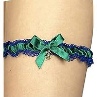Giarrettiera di pizzo matrimonio sposa biancheria intima regali de nozze addio al nubilato blu verde trifoglio