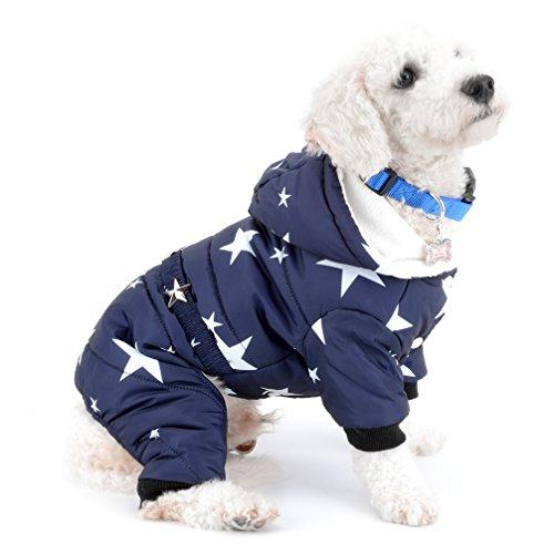 ranphy Star Print klein Hund Katze Sweatshirt Hoodies Kalten Wetter Fell Winter Warm Apparel Chihuahua Puppy Kleidung (Top Streifen Pj)