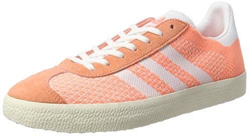 adidas Gazelle Primeknit, Scarpe da Ginnastica Basse Donna Giallo (Sun Glow/footwear White/chalk White)