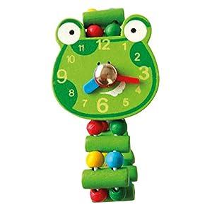 Bino- Reloj de Madera - Rana, Color Verde (9987139)