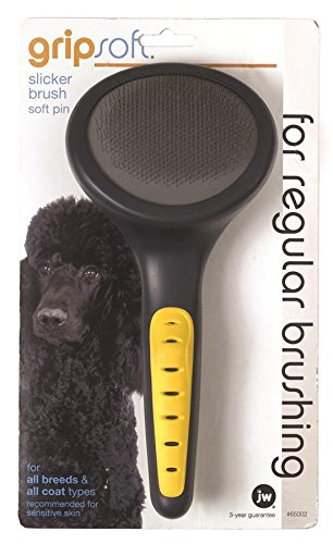 Artikelbild: JW Gripsoft Soft Pin Slicker Brush for Dogs (Size: Medium-Large)