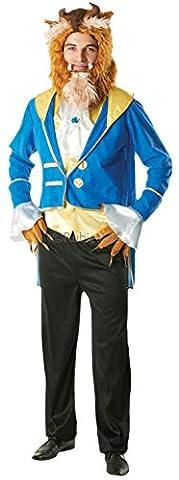 Fancy Ole - Herren Männer Biest Kostüm, Die Schöne und das Biest, Mehrfarbig, Größe S/M (Belle Von Schöne Und Das Biest Kostüm Für Erwachsene)