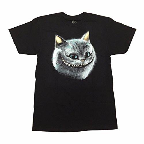 (Alice im Wunderland-Cheshire-Katzen-L?cheln gl¨¹ht im dunklen T-Shirt (X-gro?))