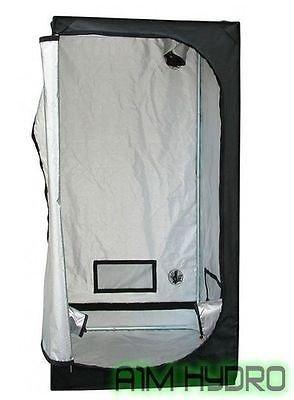 Trojan TS08 Argent Foncé x 0,8 x 0,8 x 1,6 m Grow Chambre en Mylar Tente Hydroponique