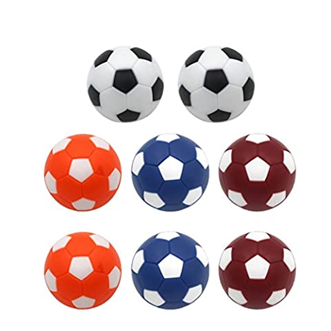 Wenosda Foosball Table Football Football Sport Toy Game Replacements Set de 8pcs (36mm, multicolore)