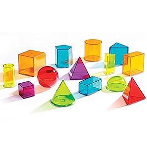 accesorios juegos de mesa: Learning Resources LER4331 - Formas geométricas de plástico transparentes
