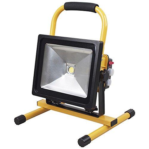 LED Akku Strahler 50W Handlampe Arbeitsleuchte Baustrahler IP65 Fluter Baulicht 300148 (Breite Flutlicht Einstellbare)