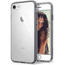 Funda iPhone 7 / iPhone 8, Ringke [FUSION] Crystal Clear Volver PC TPU de Parachoques [Gota de Protección / Choque Tecnología de la Absorción] Criado Biseles de la Funda Protectora para Apple iPhone 7 2016 - Smoke Black