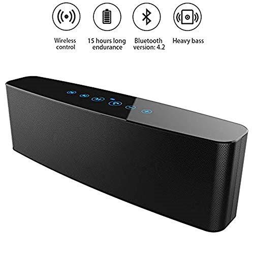 Lautsprecher Kabelloser Stereo-Bluetooth-Lautsprecher, Subwoofer mit zwei passiven Radiatoren, 6-Stunden-Wiedergabezeit, 3D-HiFi-Soundeffekt, 4000-mAh-Touch-Steuerung, für Smartphones, Tablets und meh