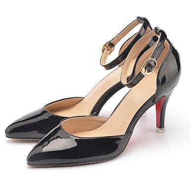 Moda Donna Sandali Sexy Donna Sandali tacchi Estate / Sandali / Punta in pelle di brevetto Office & Carriera / abito / Casual Stiletto Heel Red