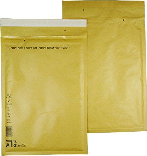 25 braune Luftpolsterumschläge Luftpolstertaschen Versandtaschen 7/G 250x350 mm
