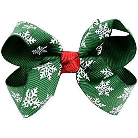 DAYAN Natale Cute Baby e di grosgrain archi dei capelli capelli della ragazza clip Barrettes - Grosgrain Clip Arco