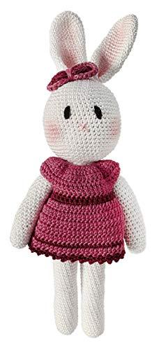 LOOP BABY - Gehäkelte Hasen-Puppe - Häkelhase rosa Ballerina aus 100 % Bio-Baumwolle - waschbar - Häkelpuppe Hase (Ballerinas Gehäkelte)