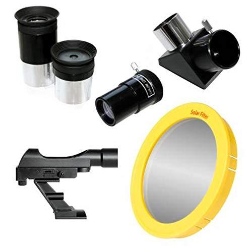Bresser Refraktor Teleskop Arcturus 60/700 mit Smartphone Kamera Adapter, LED Sucher, Montierung und Stativ zum Beobachten von Mond, Planeten und hellen Deep Sky Objekten