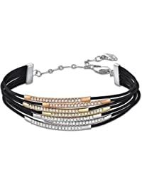 Swarovski Damen-Armband Vi Kristall PVD goldrodiniert 16.5 cm 5017111
