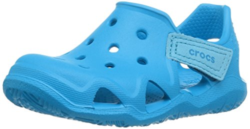 Crocs Kinder Unisex 204021 Mokassins Oxford, Blau (Ocean), 32/33 EU