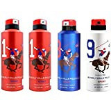 Beverly Hills Polo Club Two No.1 And One No.8 And One No.9 Deodorant Combo Pack For Men(Pack Of 4)