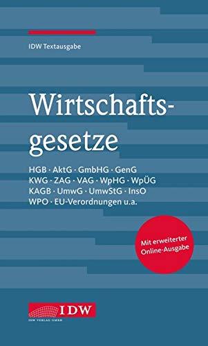 Wirtschaftsgesetze, 35. Auflage: IDW Textausgabe