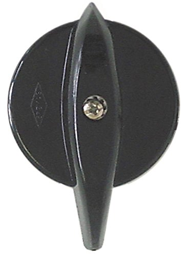 Cuppone Knebel für Pizzaofen EVOLUTION MECHANICAL, MAX 4/35X ø 48mm Symbol mit Nullstrich für Achse 5x5mm schwarz
