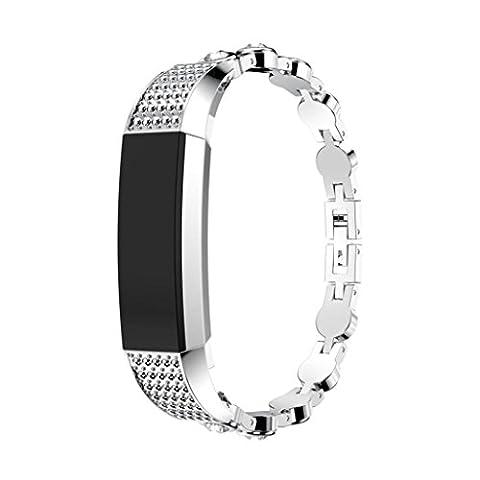 Remplacement montre Band, Jaminy Acier inoxydable montre bracelet Band Strap pour Fitbit Alta HR/Fitbit Alta, C