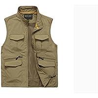GDS/algodón chaleco Macho pesca bolsillo photography. lavable cuello vest.–Chaleco de pesca, 2-3XL185