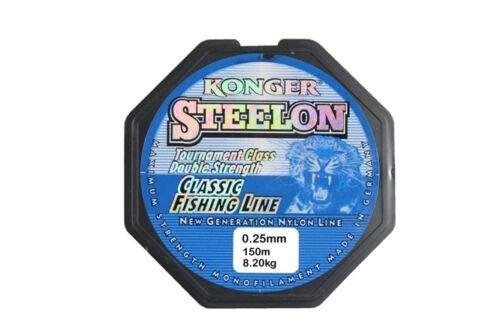 Konger Angelschnur Classic Fishing Line 0,12-0,50mm/150m Monofile (0,25mm / 150m)