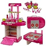 Hobnot Toy Kitchen Set Toys For Kids - Kitchen Play Set For Girls Pink