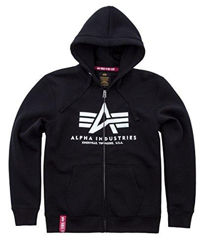 Alpha Industries Basic Zip Hoodie Schwarz L