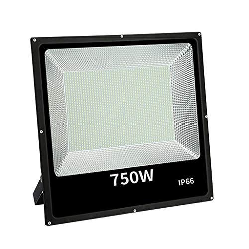 WKZ Flutlichtstrahler Flutlicht LED-Strahler 6500 K /3000 K IP66 Wasserdicht Fabrik Brücke Terrasse Draussen LED-Scheinwerfer (Farbe : Warmes Licht-750W)