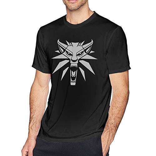 Wuyouhua Witcher-PNG-Image - Camiseta de Manga Corta para Hombre, Color Negro Negro Negro (4XL