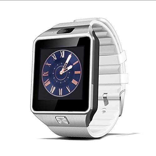 Bluetooth DZ09 Smart Watch Relogio Android Smartwatch Phone Fitness Tracker Reloj Smart-Uhren Subwoofer Damen Herren Dz 09,Weiß