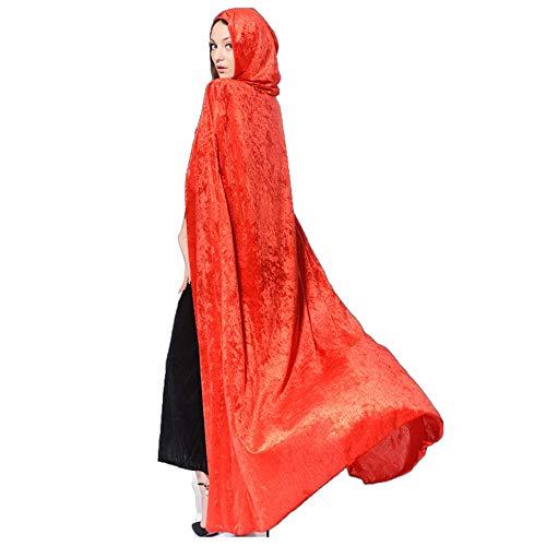 LL Halloween-Umhang Kostüm Halloween Tunika Kapuzen Robe Umhang -