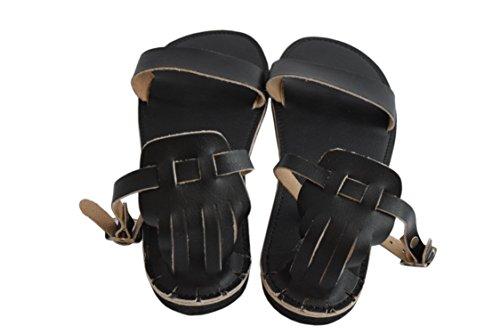 Natleat Slippers , Sandales Plateforme fille femme Noir