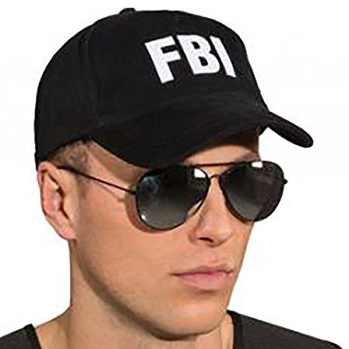 ecap FBI Schwarz Kostüm-Zubehör USA Fasching Karneval (Cop Kostüm Weiblich)