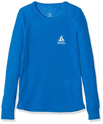 Odlo ML Warm T-Shirt Manches Longues Garçon, Energy Blue, FR : XXS (Taille Fabricant : 104)