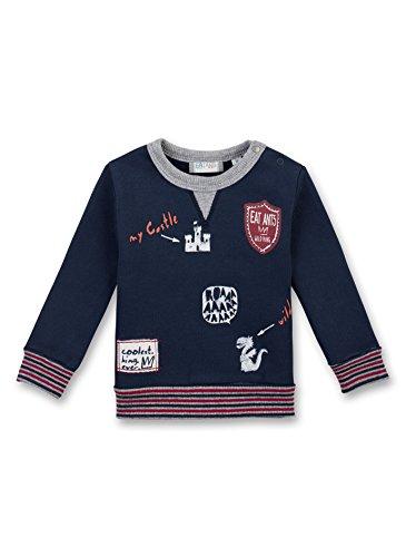 Sanetta Baby-Jungen Sweatshirt 114147, Blau (Marina Ocean 50149), 86