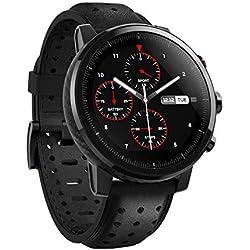 Xiaomi Amazfit Stratos 2S- Multisport Smartwatch, Bisel de cerámica pulida, Cristal de zafiro 2.5D, Resistente al agua hasta 50 metros, VO2 max, hasta 5 días de batería, Bluetooth, diseño premium