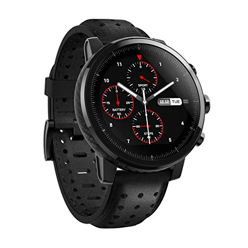 Xiaomi Erwachsene Eu/D Version Mi Amazfit Stratos 2S Smartwatch schwarz One Size (Unisex), Einheitsgröße -