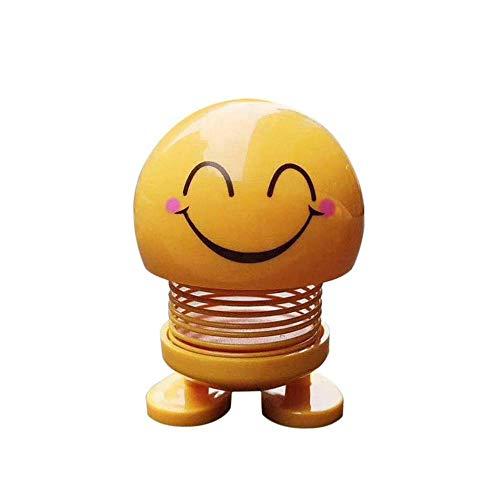 WDDqzf ornament Skulptur Dekoration Auto Ornamente Emoji Shaker Lächeln Kopfschütteln Puppe Spielzeug Nette Auto Innendekoration Zubehör, 5 -