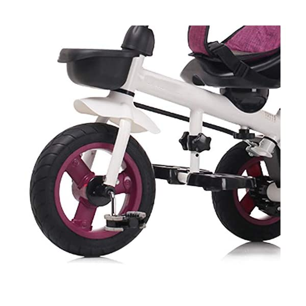 LRHD 4-in-1 Light Steel Adjustable Convertible Tricycle Stroller with Adjustable Push Handle, Detachable Ceiling, Retractable Pedal, Lockable Pedal, Detachable Guardrail, Children's Birthday Gift LRHD 1. 4-in-1 tricycle: easy to switch between the four modes and easy to disassemble and install all components. This tricycle can grow up with a child aged 10 months to 5 years old, which is a rewarding investment for your child's childhood. Our four-in-one tricycle will be one of your children's fond memories of childhood. 2. Convenient for parents: when children cannot ride independently, parents can easily use the push handle to control the steering and speed of the tricycle. The height of the push handle can be adjusted to meet the different needs of parents. The push handle is also detachable, allowing children to enjoy free rides. 3. Ensure safety: Considering the safety of children when using, we have made many detailed safety designs. There is a detachable sponge guardrail on the seat, which can also be opened to let children get on the bus. The additional vertical safety belt can not only prevent the child from falling down, but also cover the button to avoid injury to the child. 7