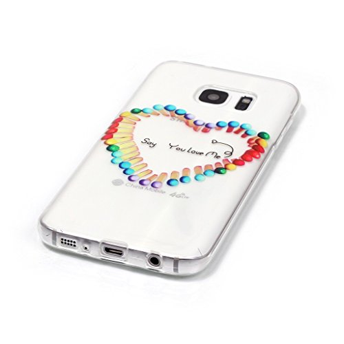 PowerQ Bunte Muster Serie Malerei Druck TPU Case Fall Hülle Etui < Transparent-Black Butterfly - für IPhone 5S 5 5G SE IPhone5S IPhoneSE >          Zeichnung Tasche weiche Silikon Abdeckung Soft Silicone Cover Transparent-Colorful match stick