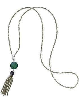 Kristall Quaste Anhänger Halskette Stränge Wulstig Lange Kette Y Gestalten Handgefertigt Halskette